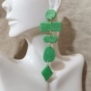 Handcrafted polymer clay drop earrings
